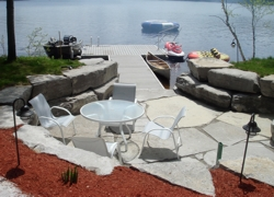 Custom Dock and Patio Rock Work