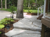 Custom Design and Installed Flagstone Walkway