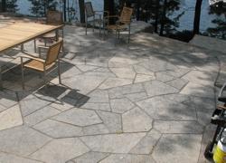 Custom Patio Rock Construction