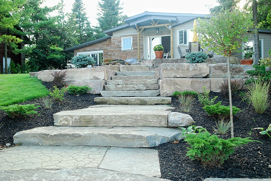 Custom landscaping buckhorn sand and gravel for Custom landscaping